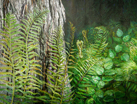 Wild Forest garden 48x36in Acrylic $4200