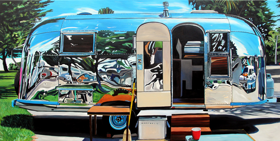 Airstream With Broom 75x38in Acrylic, $4745