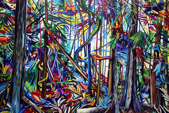 Tree Waves 60x40in Acrylic, $4225