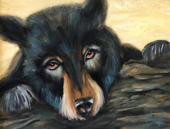 I Care Bear 18x14in Acrylic, $450