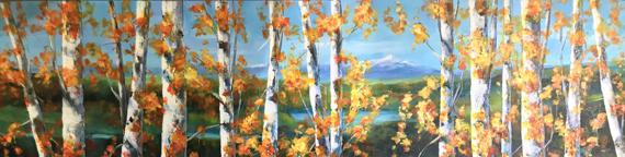 Peek a Boo View 48x12in Acrylic, $1000