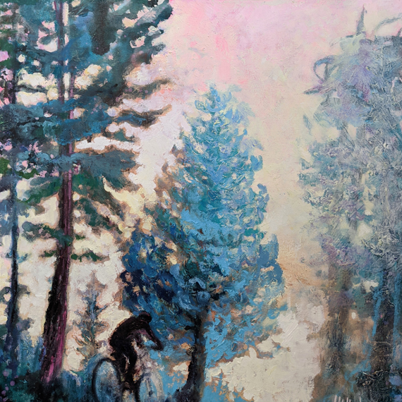 'Blush Sky' 24x24in Acrylic oil Wax, $850