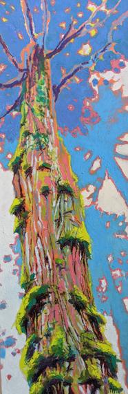 Reach for the Light 12x36in Acrylic Oil Wax, $750