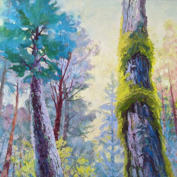 Sunny Maple 48x48in Acrylic Oil Wax, $4050